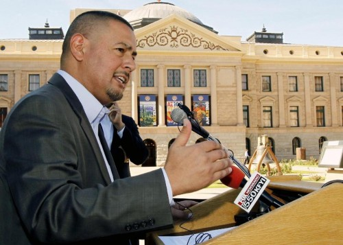 Sen. Steve Gallardo, D-Phoenix  (AP Photo/Ross D. Franklin)