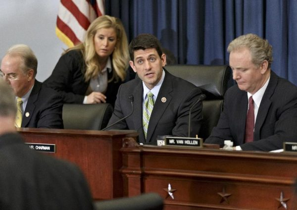 House Budget Committee Chairman Rep. Paul Ryan, R-Wis., center   (AP Photo/J. Scott Applewhite)