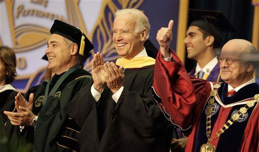 Vice President Joe Biden, center.  (AP Photo/Javier Galeano)