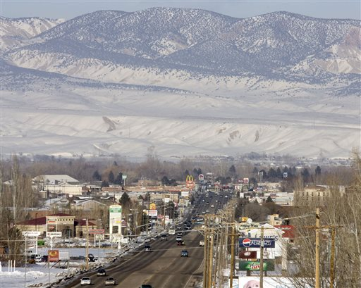 Downtown Vernal, Utah.  (AP Photo/The Salt Lake Tribune, Steve Griffin, File)