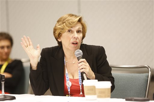 American Federation of Teachers President Randi Weingarten  (AP Photo/Damian Dovarganes)