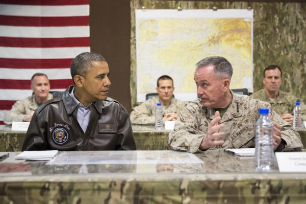 President Barack Obama as he is briefed by Marine General Joseph Dunford, commander of the US-led International Security Assistance Force (ISAF)  (AP Photo/ Evan Vucci, File)