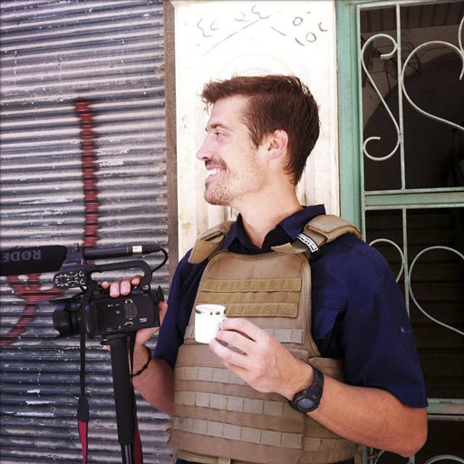 James Foley in Aleppo, Syria,  (AP Photo/freejamesfoley.org, Nicole Tung)