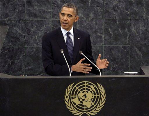 President Barack Obama addresses the United Nations General Assembly ( AP Photo/Richard Drew, File)