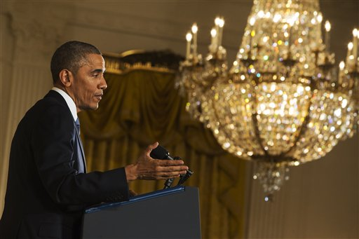 President Barack Obama speaks during a news conference in the East Room of the White House, Wednesday  (AP Photo/Jacquelyn Martin)