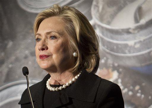 Hillary Rodham Clinton, former US Secretary of State  (AP Photo/Bebeto Matthews)