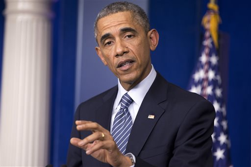 President Barack Obama speaks to the media in the briefing room of the White House Monday  (AP Photo/Jacquelyn Martin)
