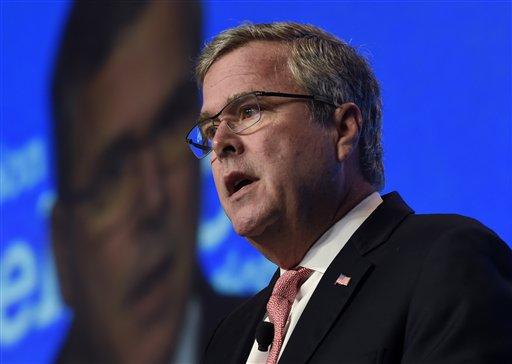 Former Florida Gov. Jeb Bush speaks in Washington (AP Photo/Susan Walsh)