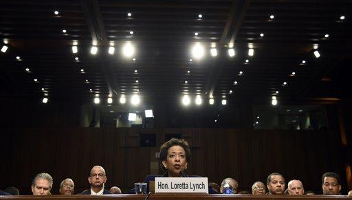 Attorney General nominee Loretta Lynch testifies on Capitol Hill (AP Photo/Susan Walsh)