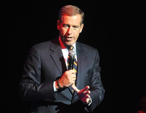 Brian Williams speaks at the 8th Annual Stand Up For Heroes. (Photo by Brad Barket/Invision/AP)