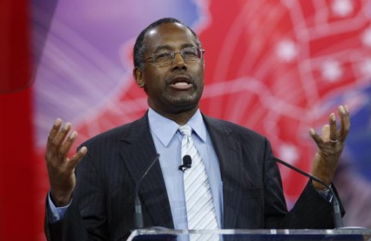 Ben Carson speaks at the Conservative Political Action Conference (CPAC) at National Harbor in Maryland. (REUTERS/Kevin Lamarque)