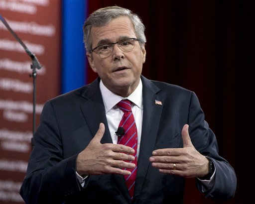 Former Florida Gov. Jeb Bush  (AP Photo/Carolyn Kaster, File)