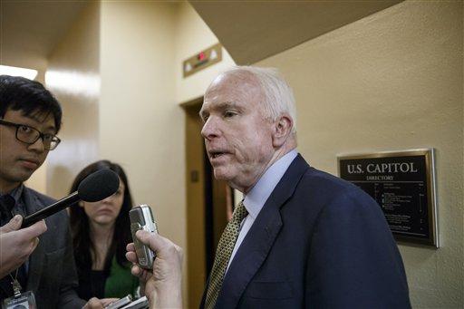 Senate Armed Services Committee Chairman John McCain, R-Ariz.  (AP Photo/J. Scott Applewhite)
