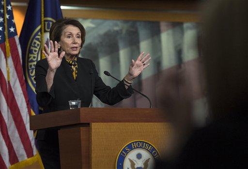 House Minority Leader Rep. Nancy Pelosi of Calif.  (AP Photo/Molly Riley)