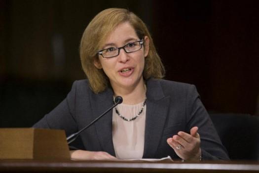 Karen Kaiser, general counsel at The Associated Press, testifies on Capitol Hill. (AP Photo/Evan Vucci)