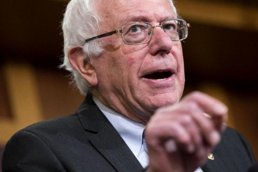 Democratic presidential candidate Sen. Bernie Sanders, I-Vt.  (AP Photo/Evan Vucci)