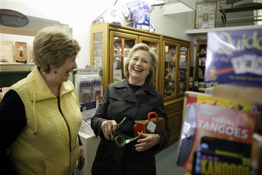 Democratic presidential candidate Hillary Rodham Clinton in Independence, Iowa. (AP Photo/Charlie Neibergall)