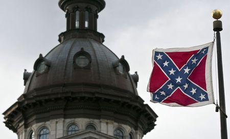 A Confederate flag flies outside the South Carolina State House in Columbia, South Carolina. (REUTERS/Chris Keane)