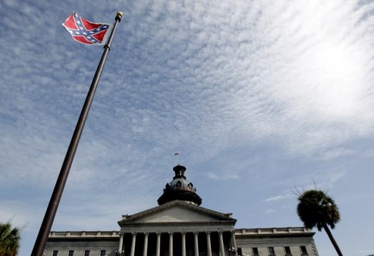 A Confederate flag stands in front of the South Carolina State House in Columbia, South Carolina. (REUTERS/Tami Chappell)