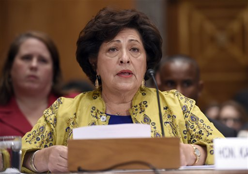 Office of Personnel Management (OPM) Director Katherine Archuleta.  (AP Photo/Susan Walsh)