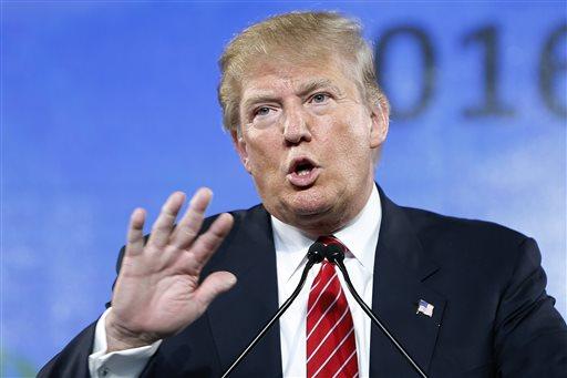 Republican presidential candidate Donald Trump.  (AP Photo/John Locher)