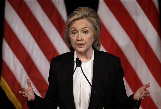 Democratic presidential candidate Hillary Rodham Clinton.  (AP Photo/Seth Wenig, File)