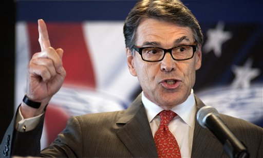 Republican presidential candidate, former Texas Gov. Rick Perry speaks at the Eagle Council XLIV, sponsored by the Eagle Forum, at the Marriott St. Louis Airport in St. Louis Friday, Sept. 11, 2015.  During his speech Perry ended his second bid for the Republican presidential nomination, becoming the first major candidate of the 2016 campaign to give up on the White House.  (AP Photo/Sid Hastings)