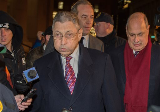Former New York Assembly Speaker Sheldon Silver exits Manhattan federal court following his conviction on corruption charges, Monday, Nov. 30, 2015, in New York. (AP Photo/Bryan R. Smith)