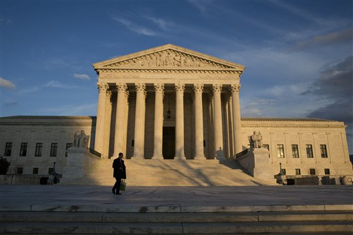 The Supreme Court is seen in Washington, Wednesday, Feb. 17, 2016, as preparations were being made to honor Justice Antonin Scalia. The history of Supreme Court nominations is dominated by tales of picks the Senate debated and approved with little angst. President Barack Obama's upcoming effort to fill the vacancy created by Antonin Scalia's death seems to not be one of those stories. (AP Photo/J. Scott Applewhite)