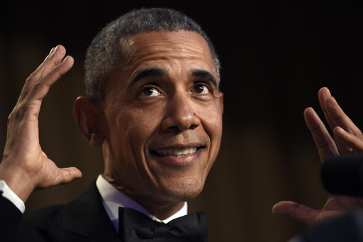 President Barack Obama speaks at the annual White House Correspondents' Association dinner at the Washington Hilton in Washington, Saturday, April 30, 2016. (AP Photo/Susan Walsh)