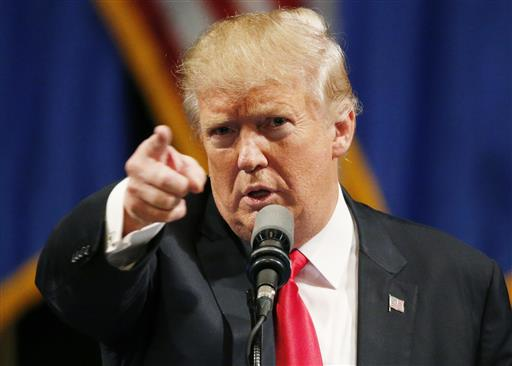 Republican presidential candidate Donald Trump speaks. (AP Photo/John Locher)