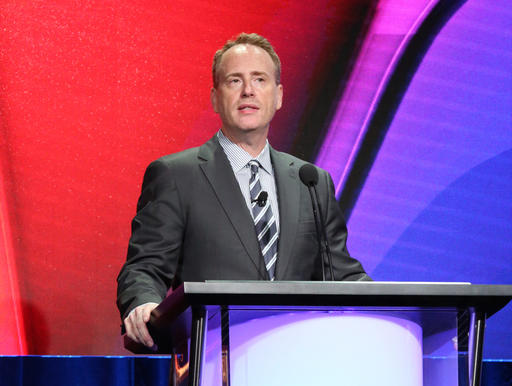 """This Aug. 2, 2016 photo released by NBC shows Chairman of NBC Entertainment Robert Greenblatt at the NBCUniversal Summer Press Tour in Beverly Hills, Calif.  Greenblatt slammed Republican presidential candidate Donald Trump, the network's onetime """"Apprentice"""" star, as """"toxic"""" and """"demented"""" in a private Facebook post that became public. (Evans Vestal Ward/NBCUniversal via AP)"""