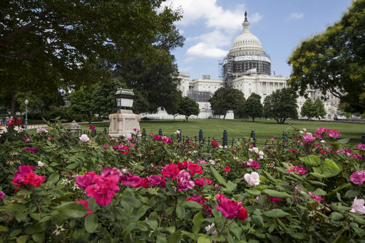 This June 16, 2016 photo shows an exterior view of the Capitol Building in Washington. Republican Senate candidates around the country, from Wisconsin to Florida, are bracing for Donald Trump to lose their states, and looking for ways to win in spite of him. (AP Photo/J. Scott Applewhite)