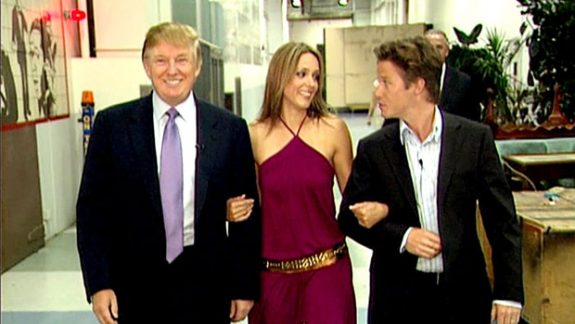 Donald Trump, Arianne Zucker and Billy Bush on the day Trump said too much.