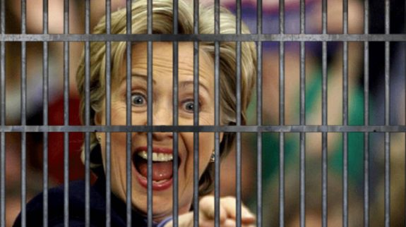 ...or will it be Hillary behind bars?