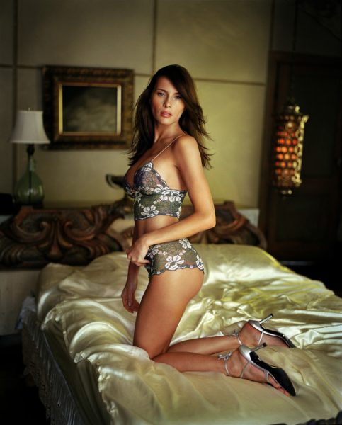 Melania Trump, wife of Presidential contender Donald Trump, working as a model.