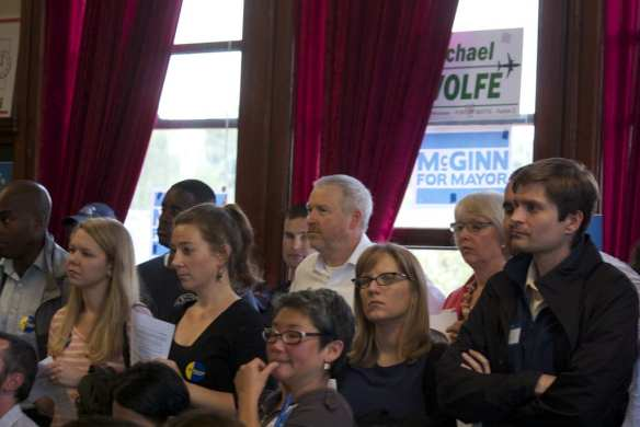McGinn takes a seat with his fellow 43rd District dwellers (Image: CHS)