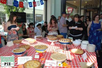 Action shot from last year's first ever bake-off