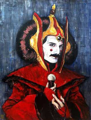Freddie Mercury as Queen Amidala... (Chuck Knigge w/ permission to CHS)