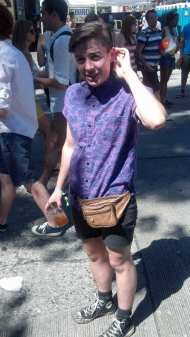 """""""All my friends have fanny packs. You can get one that's leather for cheaper than a backpack."""""""