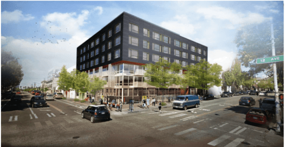 Here's what developers hope you'll find at the northeast corner of 12th and Pike in a few year (Image: CHS)