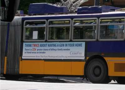 The group's Metro campaign (Image: Washington CeaseFire)