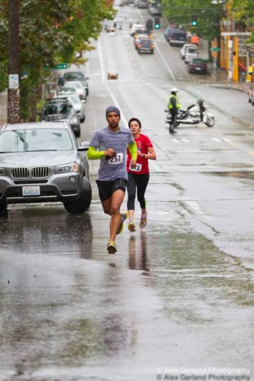 Runners in the 27th annual Seattle AIDS Walk and Run navigate the soppy roadways Saturday -- More pictures on the CHS Facebook page
