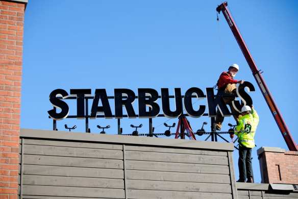 "Following projects like the 2010 overhaul of the E Olive Way ""Gaybucks,"" Starbucks is building on Capitol Hill again (Image: CHS)"