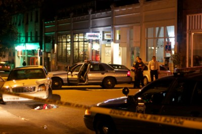 The 10th/Pine scene of Capitol Hill's lone recorded 2013 homicide -- There were no charges in an incident said to have been an accidental shooting (Image: CHS)