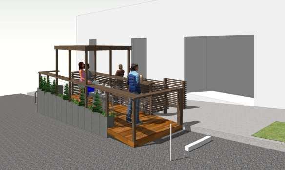 The concept design for the Montana parklet (Image: CHS)