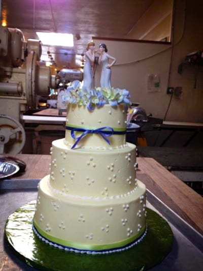 A recent North Hill Bakery wedding cake (Image: North Hill Bakery)