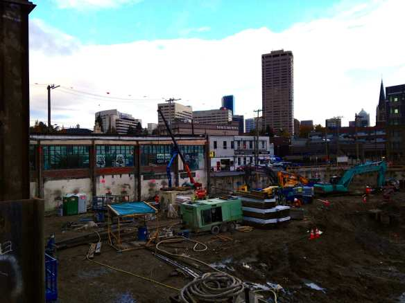 The backside of the Alliance Realty project (Image: CHS)