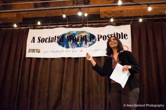 Kshama Sawant, your first District 3 Council alderperson? (Image: CHS)