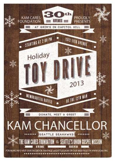Kam Cares Foundation Holiday Toy Drive @ Grimm's